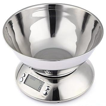 Yukun Escalas de alimentos Balanza de cocina de acero inoxidable escalas digitales electrónicas herramientas de cocina comida equilibrada precisión gourmet ...