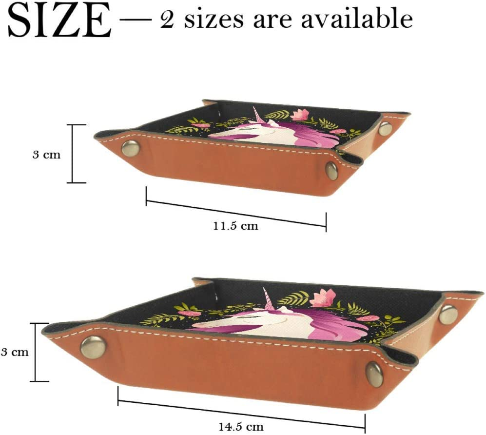Black Purple Unicorn Dice Tray PU Leather Folding Tray Holder for RPG DND Other Dice Games
