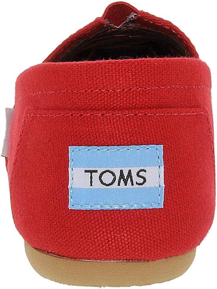 Toms Classic Glitter, Sandale Cage Espadrille Femmes Rouge Classique