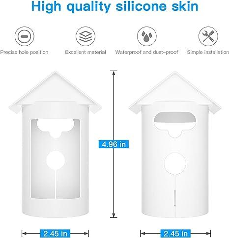 HOLACA Silikon-Schutzh/ülle f/ür Ringstop-Cam-Batterie langlebig weich schwarz wasserdichte Kamera-Regenschutzh/üllen einfach zu installieren