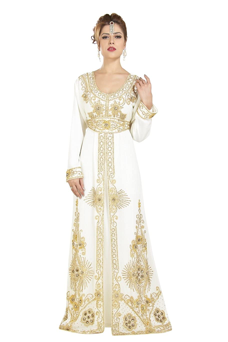 a5390b26f71 Amazon.com  Moroccan Party Wear Maghribi Kaftan Perfect for Any Festive  Occasion 6568  Clothing
