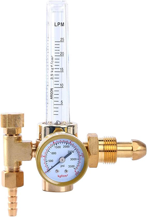 0-25Mpa Argon Regulator CO2 Mig Tig Flow Meter Gas Regulators Pressure Tool Y5U3