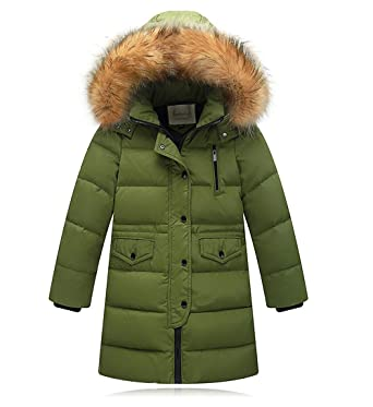 cf95f3604 Amazon.com  Boys  Girls  Down Jacket Puffer Coat Winter Parka Kids ...