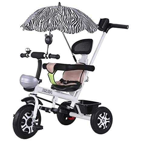 Amazon.com : Childrens Tricycle Bicycle 1-3 Child Trolley Men and Women Baby Baby Bicycle Child Car with Umbrella : Baby