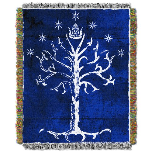 The Lord of the Rings Tree of Gondor Woven Tapestry Throw Blanket – LOTR