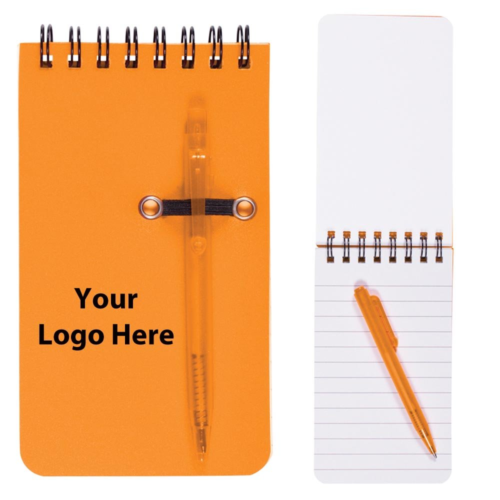 Budget Jotter With Pen - 100 Quantity - $2.10 Each - PROMOTIONAL PRODUCT / BULK / BRANDED with YOUR LOGO / CUSTOMIZED