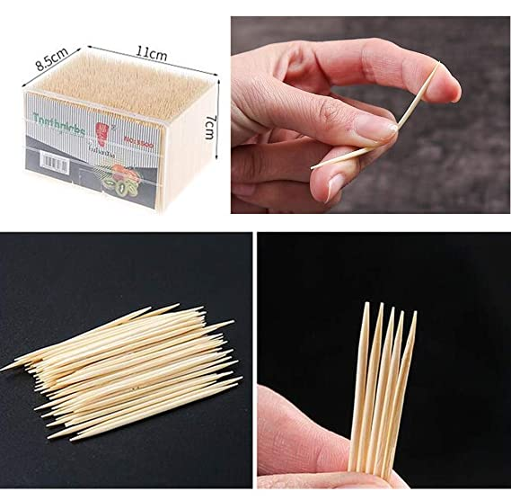 3500 unidades Palillos dentales de madera de bamb/ú para c/óctel Keep It Handy