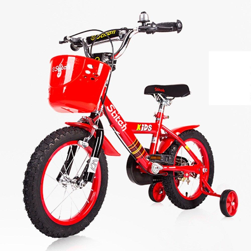 LVZAIXI ボーイズキッズバイクレッド/ブルー、スチールフレーム、1速調整可能なリーチレバーパドルコンフォートサドル ( 色 : 赤 , サイズ さいず : 16Inch ) B07CDQKLB8 16Inch|赤 赤 16Inch