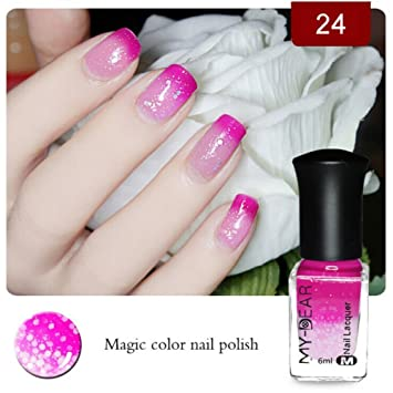 Pret Tyuk Temperature Color Changing Nail Polish Peel Off Changes Colour