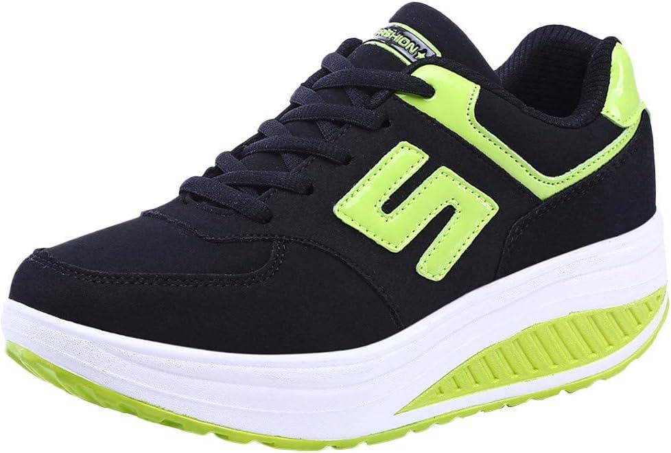 POLP Calzado Zapatos Mujer Cuña Deportivos Zapatillas Running para Mujer Aire Libre y Deporte Transpirables Casual Zapatos Gimnasio Correr Sneakers Marron Plataforma Casual 35-42: Amazon.es: Zapatos y complementos