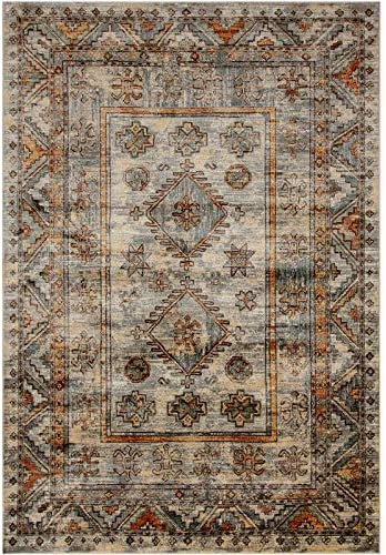 Sam's International Abacasa Sonoma Havilah Gray and Rust Viscose Area Rug