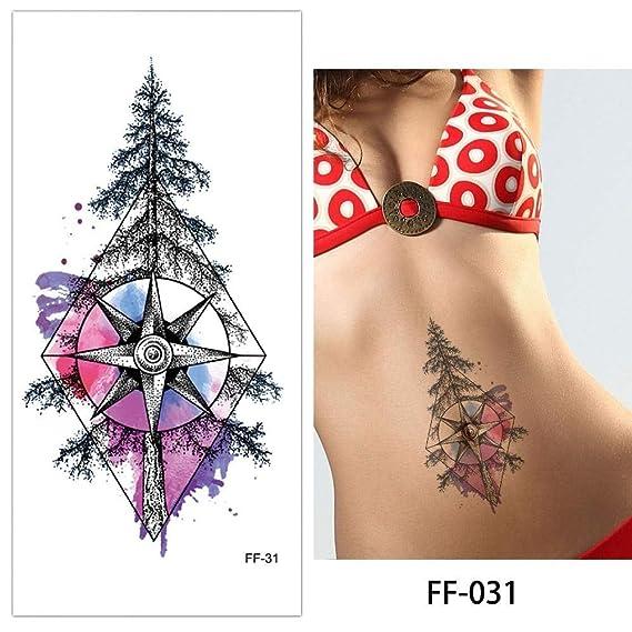 adgkitb 4 Piezas Tatuaje Temporal Pegatina Tatuaje Falso Planta ...