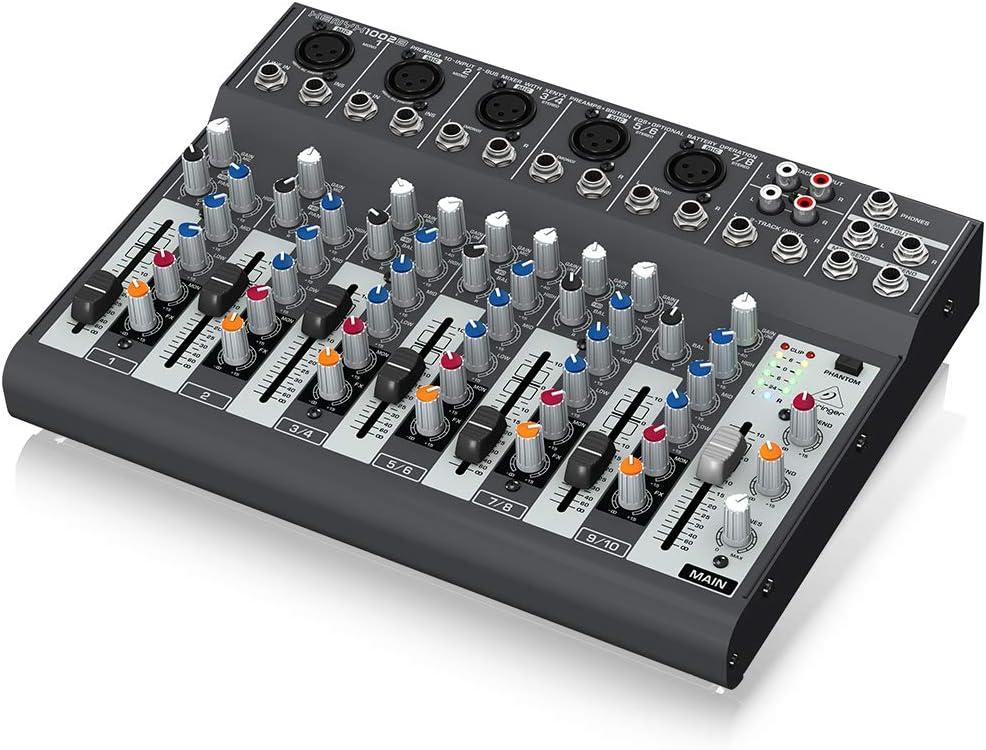 Behringer Xenyx 1002B-EU - Mezclador para DJ, 120 Db, 10-200000 Hz ...