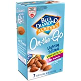 Blue Diamond Almonds, Low Sodium Lightly Salted, 100 Calorie On-The-Go Bags, (Pack of 7)