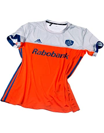 56c9a320f06 adidas Official KNHB Netherlands Replica Kids Junior Hockey World Cup Home  Jersey Top Tee Shirt
