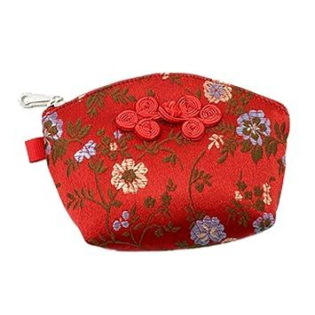 Set de 2 traditonal chino bordado joyería moneda bolsa bolsa ...