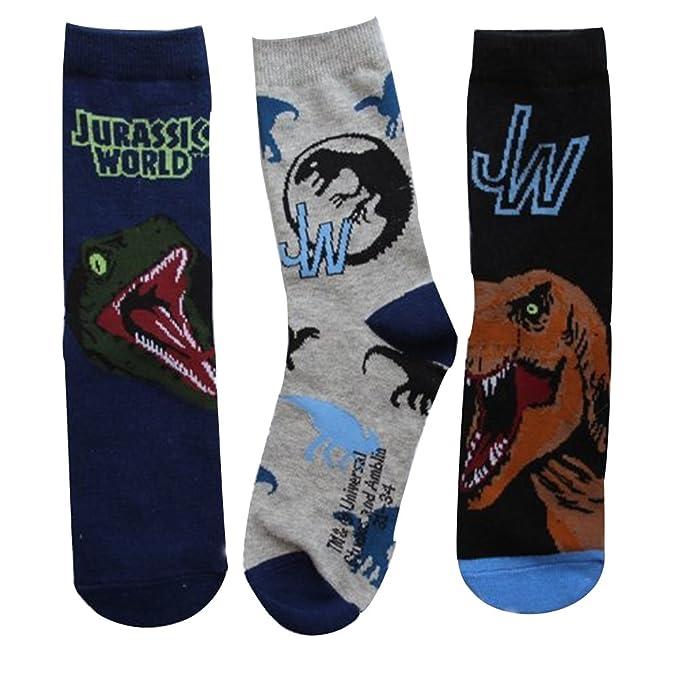 Jurassic World - Calcetines cortos - para niño Azul Blue, Black, Grey