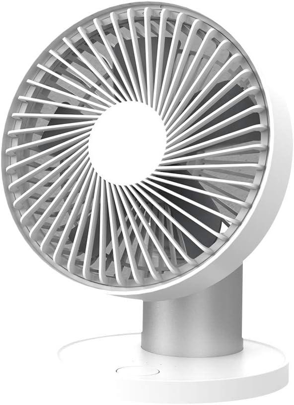 LBTbate Mini Oscillating Desk Fan Portable Personal USB Fan 60 Auto Rotation Fan for Home, Office, Dorm, Traveling, Camping – Silver
