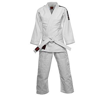 Essimo Traje de Judo Coca Blanco Blanco Talla:100: Amazon.es ...