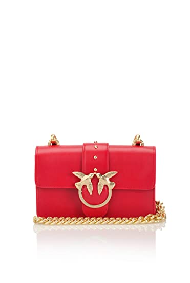0454d4e2a76 Pinko MINI LOVE SIMPLY 2 CHAIN SHOULDER BAG Height: 16 cm Width: 8 cm  Length: 22 cm: Amazon.co.uk: Clothing