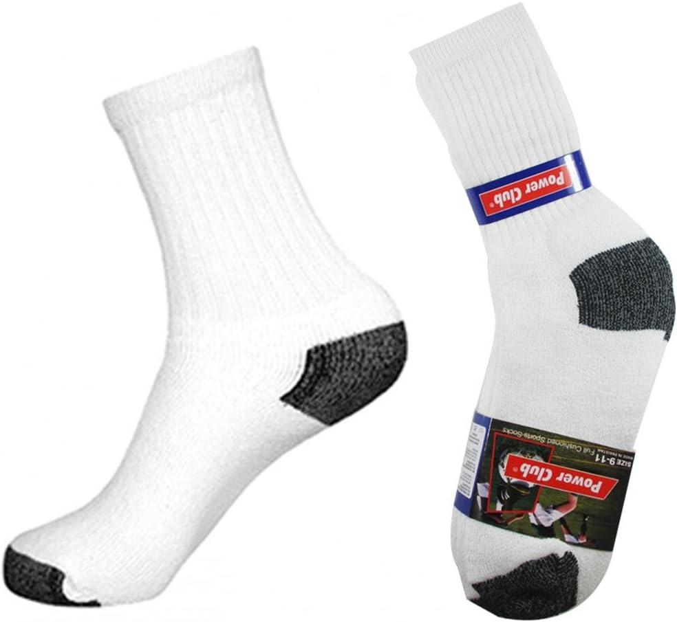 Power Club Mens 12 Pairs of Full Length Sport Socks