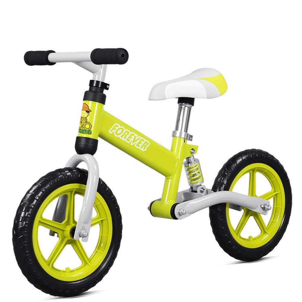 【お取り寄せ】 キッズバランスバイク、[年齢によって異なります2-6 歳少年少女] 調整可能なハンドルバー B07P76LC3J/シート軽量キッズ自転車/ベストプレゼントいいえペダルスポーツトレーニング自転車 歳少年少女] Green Green B07P76LC3J, セミフレッド:2d9a1e0e --- arianechie.dominiotemporario.com