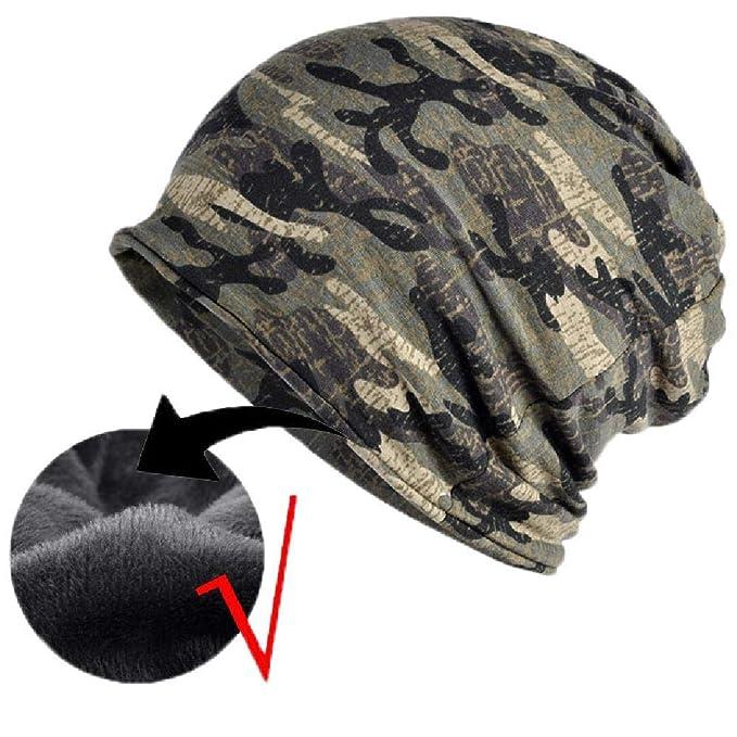 faba9ece4a1 Fleece Winter Hat Men Military Army Camouflage Beanie Knit Skullie Camo Cap  Army Green Fleece one