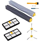 7 PCS Accessories for iRobot Roomba 800 & 900 Series Vacuum Cleaner Replenishment Part Kit - Includes 1 Pair Debris Rollers, 2 Filters, 2 Side Brushes