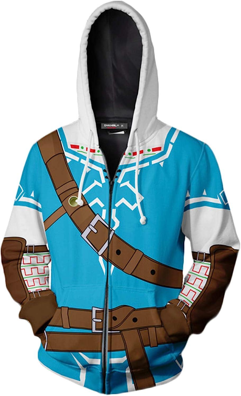 Women Men Couples Tops Zip Coat Jacket Anime Hoodies 3D Print Cosplay Clothes