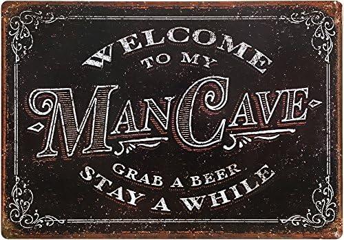OTGM-0120 STOP JEFF/'S MAN CAVE Tin Rustic Sign Man Cave Decor Gift Ideas