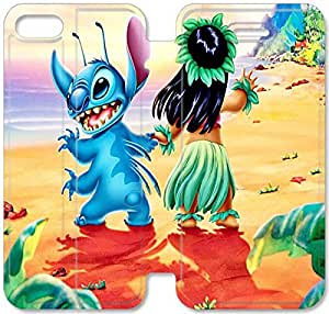 Disney Lilo & Stitch Character Lilo Pelekai-7 iPhone 6/6S 4.7 Inch Leather Flip Case Protective Cover New Colorful