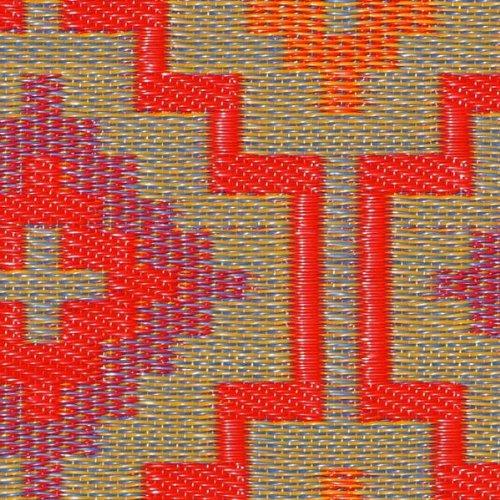 Yute 90cm x 150cm Fab Hab Lhasa-Naranja y Violeta 90 x 150 cm