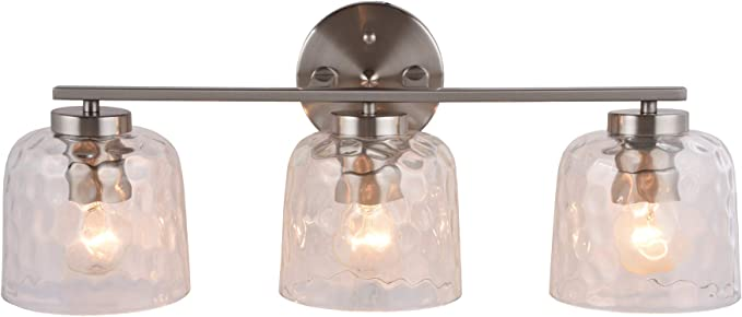 Alice House 23 Vanity Lights With Hammered Glass 3 Light Wall