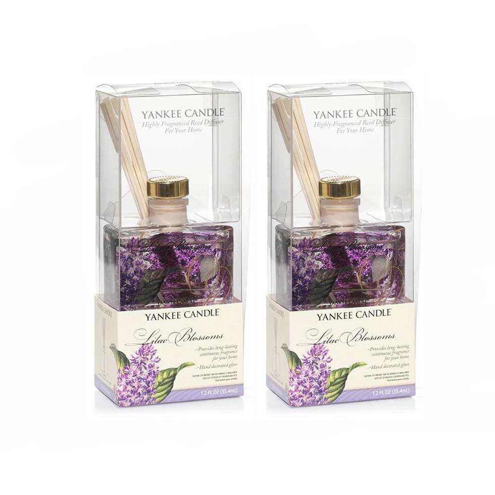Yankee Candle Lilac Blossoms MINI Reed Diffuser 1.2oz - Set of 2