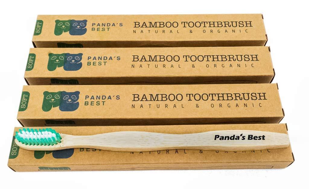 Amazon.com: Cepillo de dientes de bambú, biodegradable ...