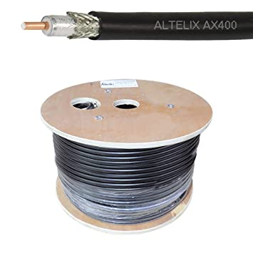 altelix AX400 50 Ohm doble blindado cable de baja pérdida ...