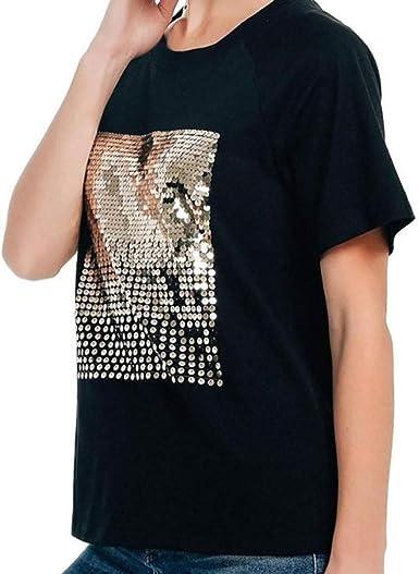 Sylar Camisetas Mujer Manga Corta, Simple Cuello Redondo Moda ...