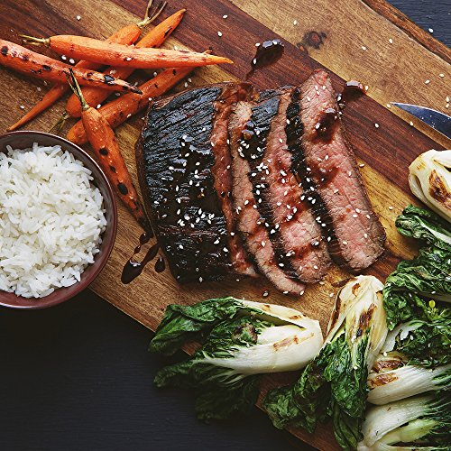 Grilled Marinated Flank Steak With Choi Sum And Baby Carrots  Dinner For 2