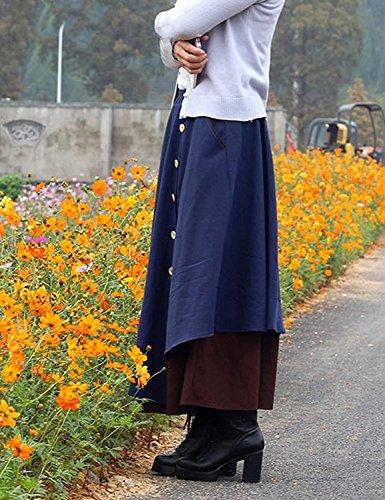 Classique Printemps Couleur Sarouel Solide Élégant Femmes Pantalon Large Casual Mode Loisirs Haute Temps Spécial Blau Automne Taille Femme 5x00wrROq