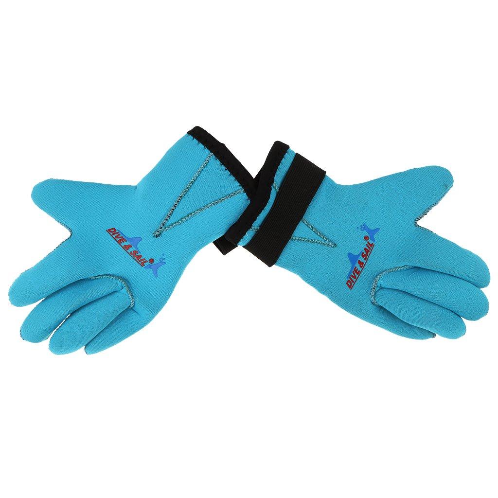 mmネオプレンskid-proofキッズボーイズガールズウェットスーツ手袋 B07335DS5W Medium|ブルー – ブルー MagiDeal ネットサーフィン、Sup、カヤック、スキューバダイビング、シュノーケル、水泳、水スポーツ – 3 Medium 2色&すべてのサイズ