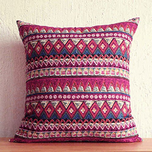 TAOSON Red Classic Bohemian Style Antique Cotton Blend Linen Sofa Throw PillowCase Cushion Cover Pillow Cover with Hidden Zipper Closure Only Cover No ... & Bohemian Pillow Covers: Amazon.com pillowsntoast.com