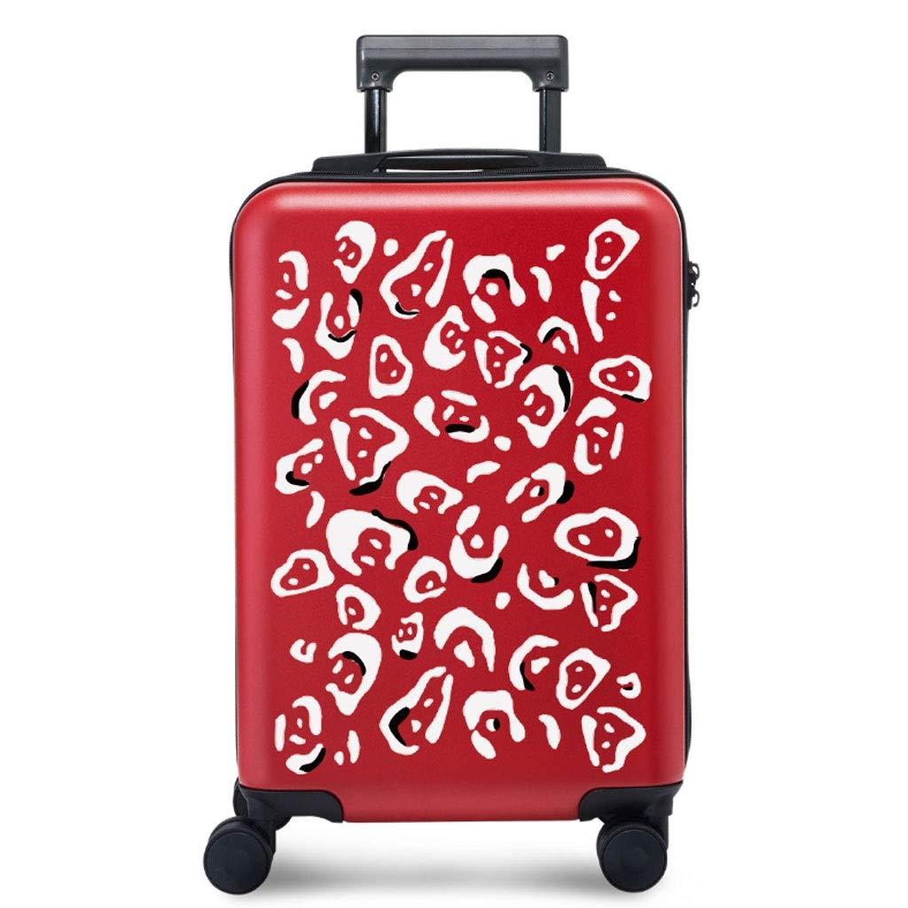 FRF トロリーケース- 学生の赤い方法トロリー箱、普遍的な車輪のスーツケーススーツケース20/24インチの人および女性 (色 : 赤, サイズ さいず : 20in) 20in 赤 B07QQDMMB5