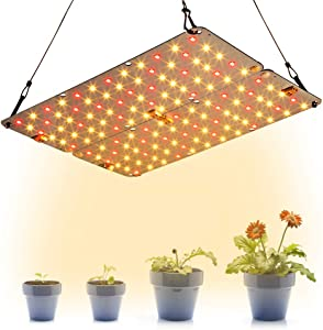 Dommia LED Grow Light Panel for Indoor Plants, 20W DIY Plant Lights with Red & Warm White Full Spectrum, Ultra Thin Grow Lamp for Hydroponic, Seedling, Succulents, Veg and Flower