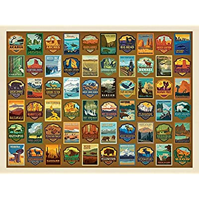 "True South ""National Parks Patches Print"" Jigsaw Puzzle 500 Pieces 18x24: Toys & Games"