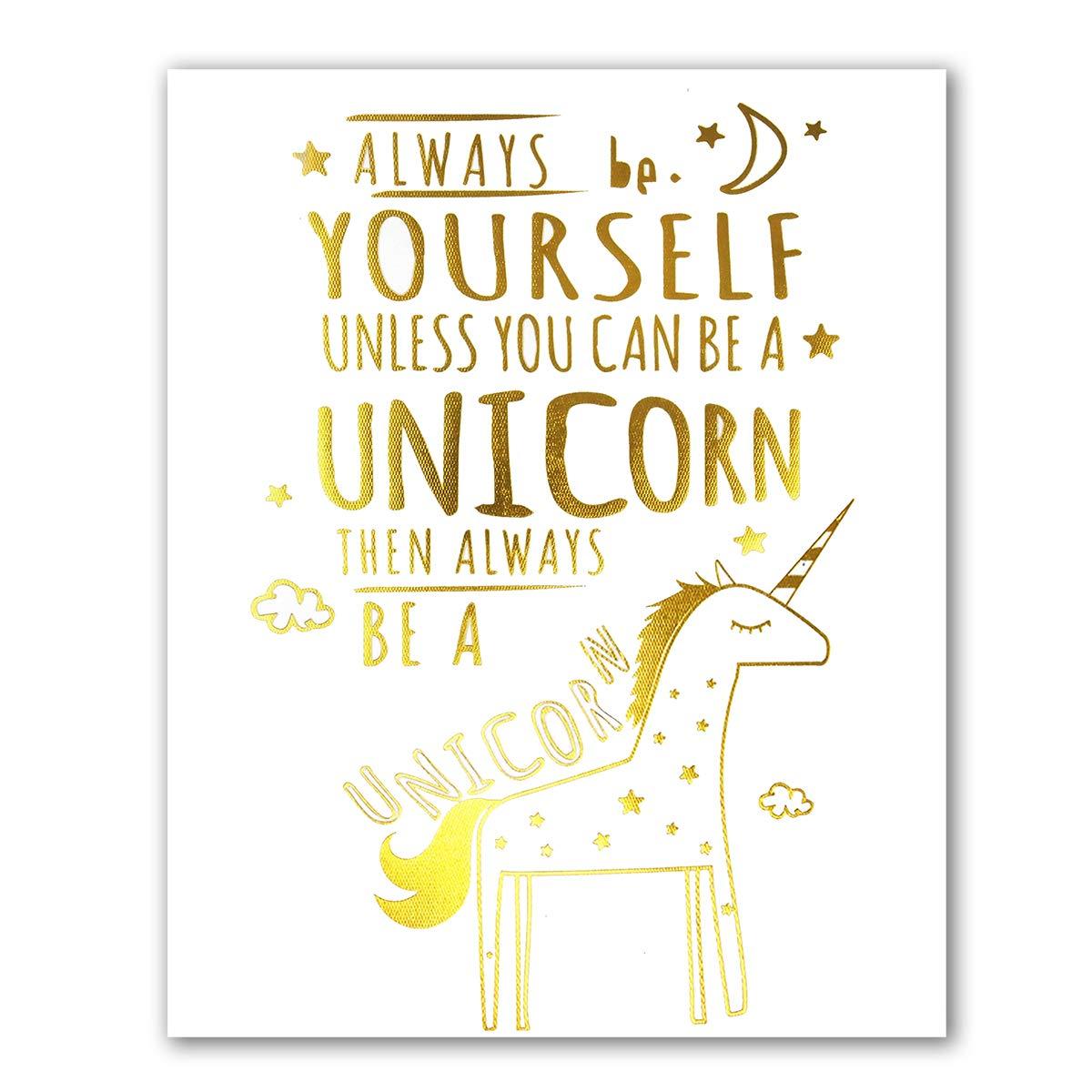 Amazon Unicorn Inspirational Quotes Art Prints Real Gold Foil