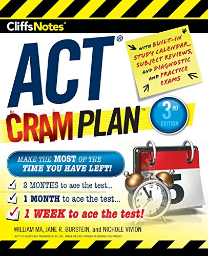 CliffsNotes ACT Cram Plan, 3rd Edition (Cliffnotes)