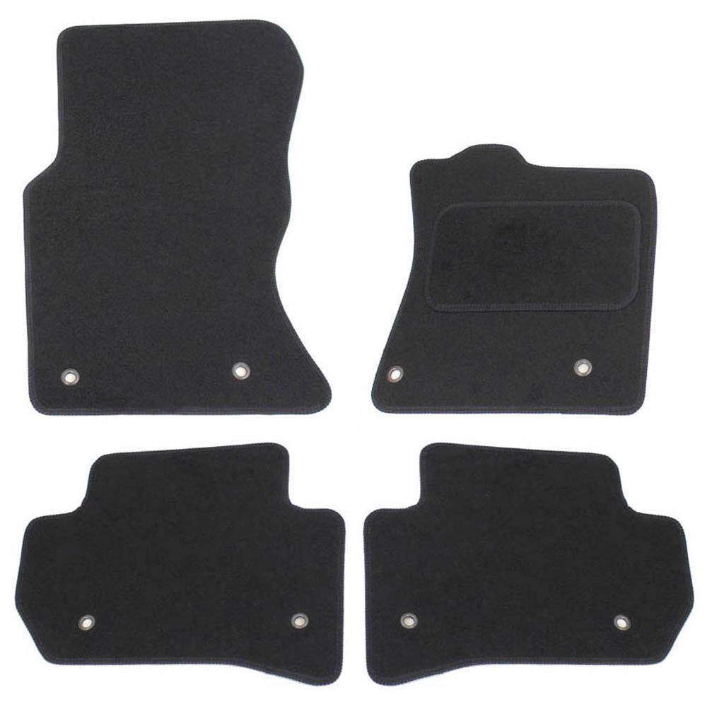 JVL Fully Tailored Car Mats with 8 Ring Clip - Black, 4 Pieces 3777