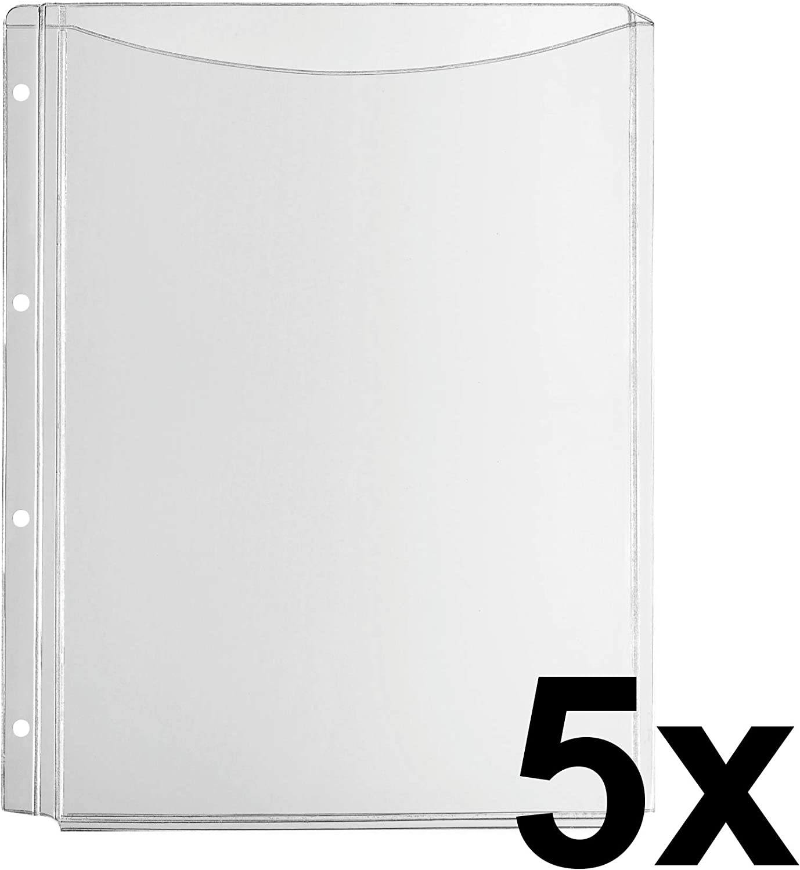 PVC de pantalla transparente FALKEN falte funda Premium para DIN A4 color transparente ganze Tasche