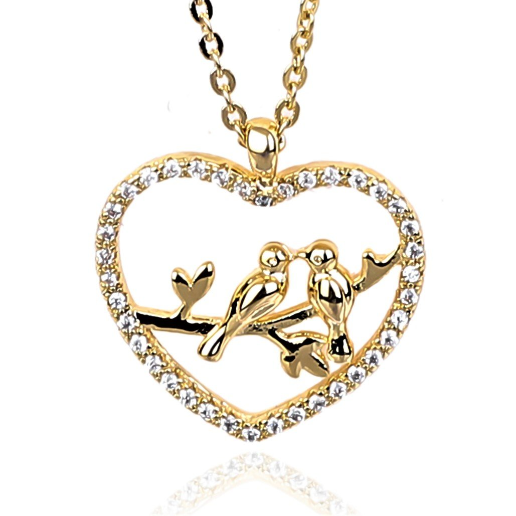 5e53af9f7f03b NickAngelo's Heart Necklace Love Birds Pendant Elegant Cubic Zirconia  Crystal Stones Fashion Jewelry Women Chain Gift Boxed