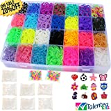 Talented Kidz 8400 Premium Rubber Bands Mega Box Refill and Storage Organizer Bundle: Over 8000 Rubber Bands in 28 Colors, S Clips, Charms and Beads. Organizer Included. This Is The Authentic Mega Box Organizer. Talented Kidz Exclusive!